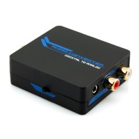 Digital to Analog Audio Converter (DAC) - Optical & Coaxial to RCA & 3.5mm