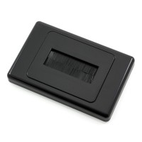 Brush Wall Plate For In Wall Cable Entry - Black