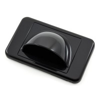Bullnose Wall Plate With Brush Entry - Black