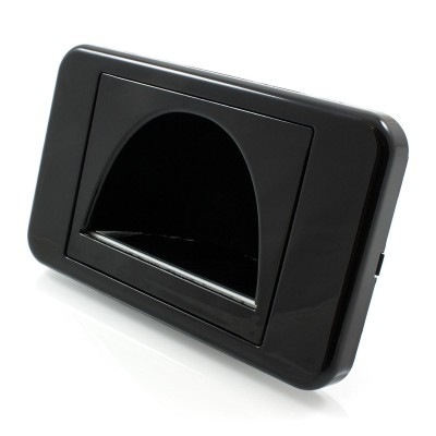 Reverse Bullnose Wall Plate With Brush Entry - Black