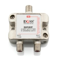 2 Way F-Type Coaxial Splitter/Combiner with Power Pass