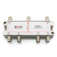 6 Way F-Type Coaxial Splitter/Combiner with Power Pass