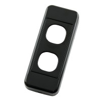 Architrave Custom Wall Plate 2 Inserts Clipsal Compatible - Black
