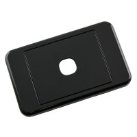 Custom Wall Plate 1 Insert Clipsal Compatible - Black