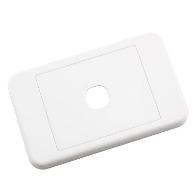 Custom Wall Plate 1 Insert Clipsal Compatible - White