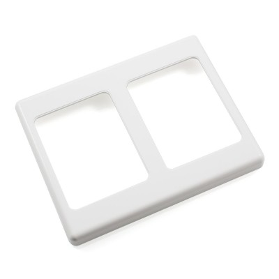 Two Gang Wall Plate Surround - White