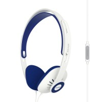 Koss KPH30i On Ear Headphones with Inline Microphone & Remote - White