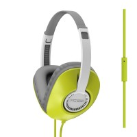 Koss UR23i Over Ear Headphones with One-Touch Microphone - Green