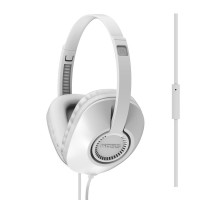 Koss UR23i Over Ear Headphones with One-Touch Microphone - White