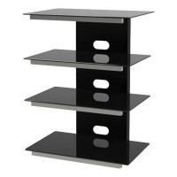 Tauris Gamma 4 Shelf Hi-Fi Rack - Black