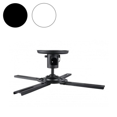 Tauris TP1-B/W Universal Ceiling Mount Projector Bracket - Up to 25 kg