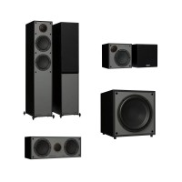 Monitor Audio Monitor 200, 50, C150 & MRW-10 - 5.1 Speaker Package - Black