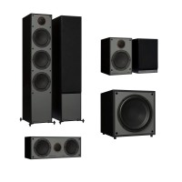 Monitor Audio Monitor 300, 100, C150 & MRW-10 - 5.1 Speaker Package - Black