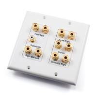 5.1 Home Theatre Speaker Wall Plate - White