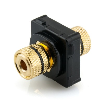 Black Banana Socket Mech Insert Clipsal Compatible - Black Bezel