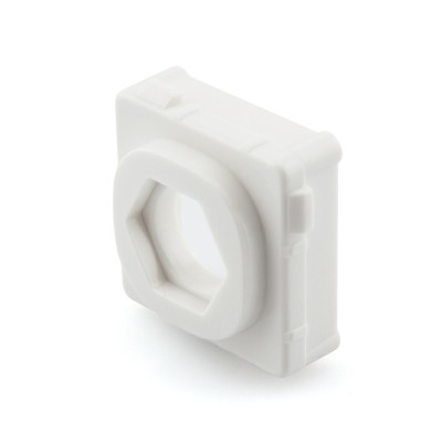 Blank with Hole Mech Insert Clipsal Compatible - White Bezel