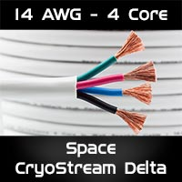 Space CryoStream Delta™ 4 Core 14 AWG in Wall Speaker Cable