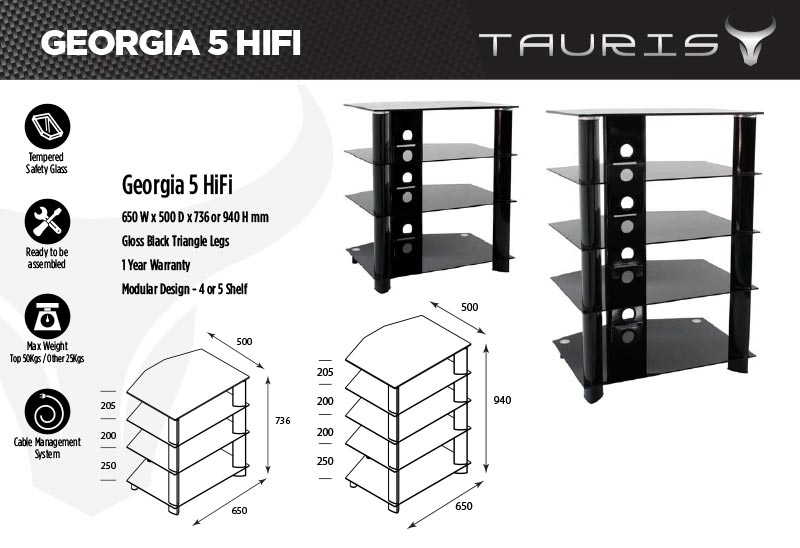 Tauris Georgia Hi-Fi Rack