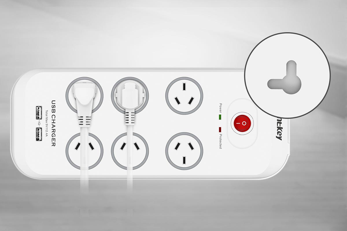 Huntkey SAC607 6 Outlet Surge Protector